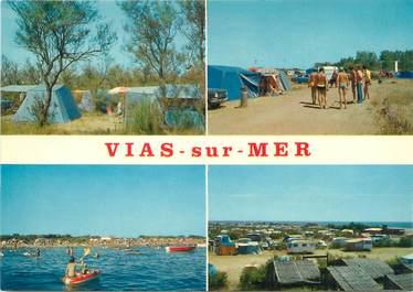 """/ CPSM FRANCE 34 """"Vias sur Mer, camping méditérranée"""""""