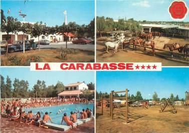 "/ CPSM FRANCE 34 ""Vias sur Mer, la Carabasse"" / CAMPING"