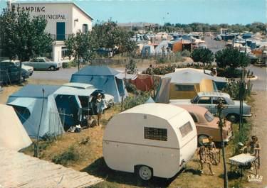 "/ CPSM FRANCE 34 ""Marseillan plage"" / CAMPING MUNICIPAL"