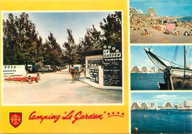 "/ CPSM FRANCE 34 ""La grande Motte, camping Le Garden"""