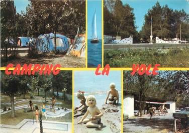 "/ CPSM FRANCE 34 ""Valras Plage, airhotel la Yole"" / CAMPING"