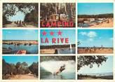 """40 Lande / CPSM FRANCE 40 """"Biscarosse, camping La Rive, le port"""""""
