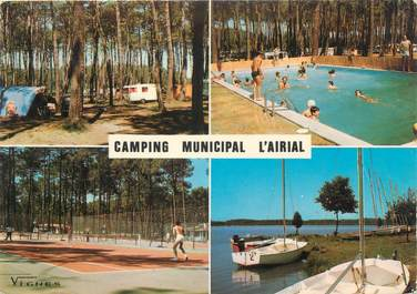 "/ CPSM FRANCE 40 ""Soustons, camping municipal l'Airial"""