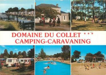 """/ CPSM FRANCE 44 """"Les Moutiers en Retz, domaine du Collet"""" / CAMPING"""