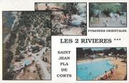 """66 PyrÉnÉe Orientale / CPSM FRANCE 66 """"Saint Jean Pla de Corts"""" / CAMPING"""