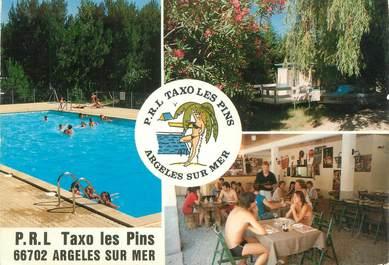 """/ CPSM FRANCE 66 """"Argelès sur Mer, camping Taxo Les Pins"""""""
