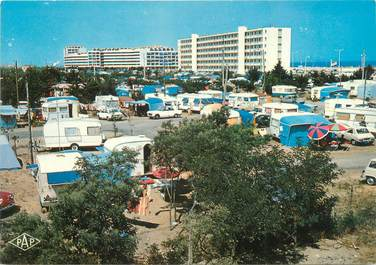 "/ CPSM FRANCE 66 ""Saint Cyprien plage, le camping, port Cipriano"""