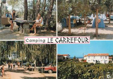 "/ CPSM FRANCE 66 ""Argeles Plage, camping Le Carrefour"""
