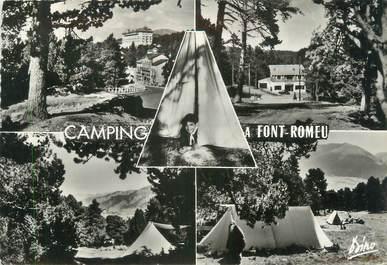 """/ CPSM FRANCE 66 """"Font Romeu, camp de Menhir"""" / CAMPING"""