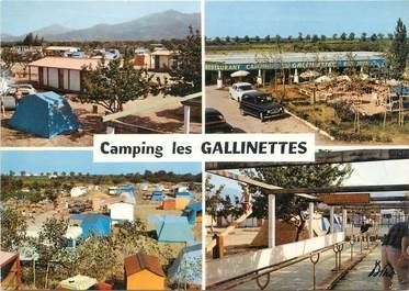 """/ CPSM FRANCE 66 """"Argelès sur Mer, camping Les Galinettes"""""""