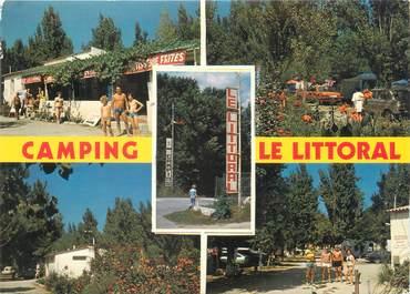 """/ CPSM FRANCE 66 """"Argelès sur Mer, camping Le Littoral """""""