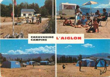 """/ CPSM FRANCE 66 """"Bourg Madame, camping l'Aiglon"""""""