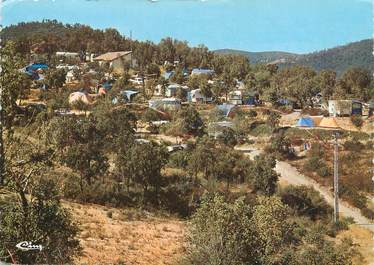 "/ CPSM FRANCE 83 ""Bormes Les Mimosas, camping Manjastre"""