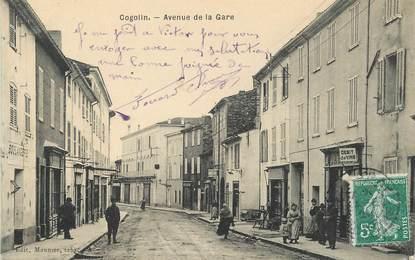 """/ CPA FRANCE 83 """"Cogolin, avenue de la gare"""""""