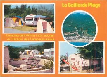 "/ CPSM FRANCE 83 ""Saint Aygulf, la Gaillarde plage"" / CAMPING"