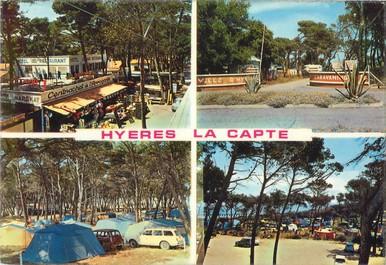 """/ CPSM FRANCE 83 """"Hyères, la Capte"""" / CAMPING"""