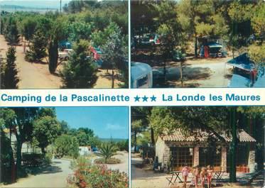 """/ CPSM FRANCE 83 """"La Londe Les Maures, camping de la Pascalinette """""""