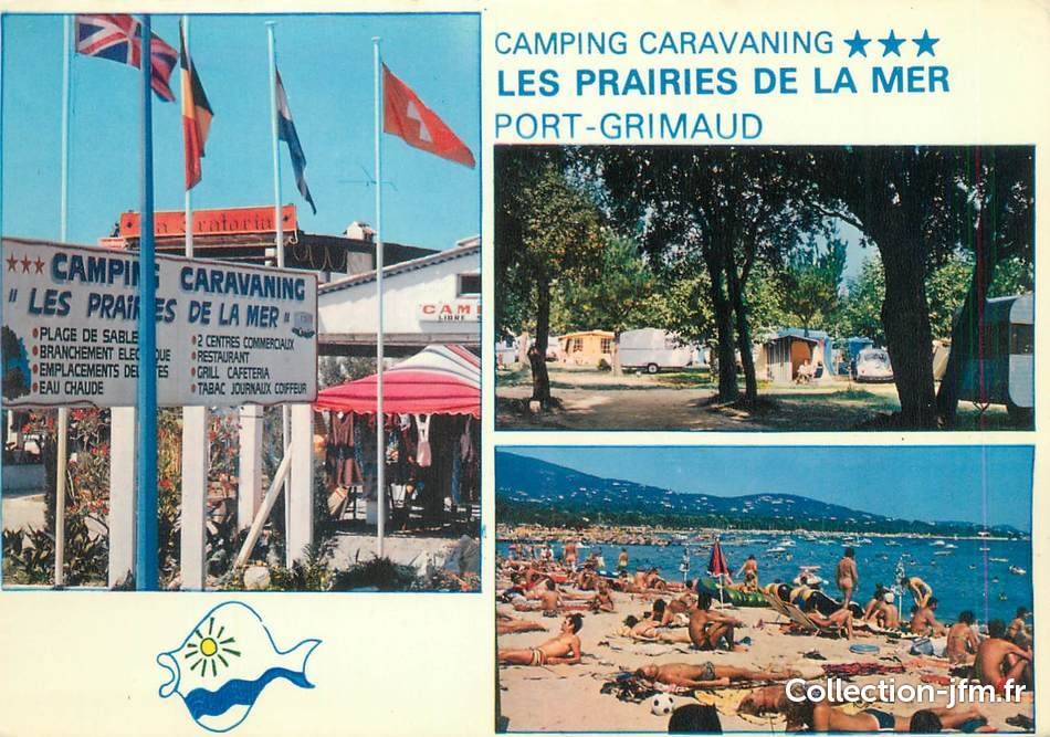 Cpsm france 83 port grimaud camping les prairies de la - Camping port grimaud les prairies de la mer ...