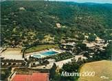 "83 Var / CPSM FRANCE 83 ""Sainte Maxime, hôte restaurant Maxima 2000"" / CAMPING"