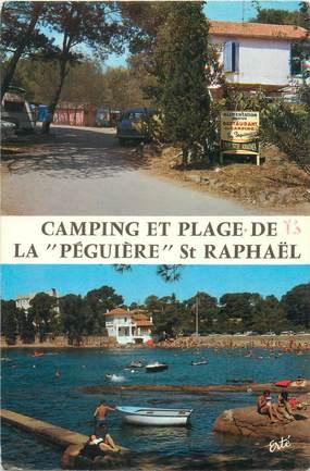 """/ CPSM FRANCE 83 """"Saint Raphaël, camping et plage de la Péguière"""""""