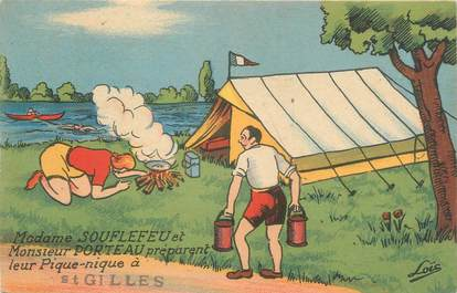 "CPSM FRANCE 85 ""Saint Gilles"" / CAMPING"
