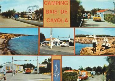 "CPSM FRANCE 85 ""Sables d'Olonne, camping baie de Cayola"""