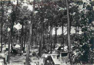 "CPSM FRANCE 85 ""Sion sur Mer, le campement en forêt"" / CAMPING"