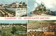 """50 Manche CPSM FRANCE 50 """"Le Mont Saint Michel, camping"""""""