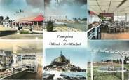 """50 Manche CPSM FRANCE 50 """"Le Mont Saint Michel, camping """""""