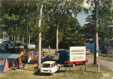 """CPSM FRANCE 41 """"Chissay en Touraine, le camping"""""""