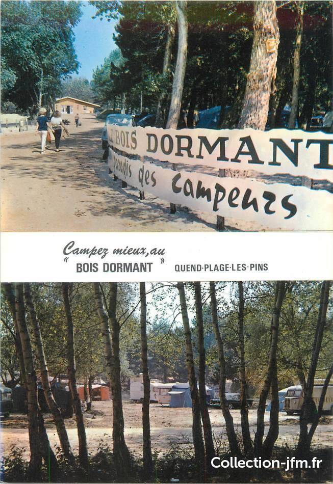 CPSM FRANCE 80 Quend Plage les Pins, Camping le bois dormant  80 ~ Camping Du Bois Dormant Quend Plage