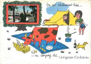"CPSM FRANCE 11 ""Lezignan Corbières"" / CAMPING"