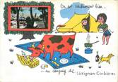 """11 Aude CPSM FRANCE 11 """"Lezignan Corbières"""" / CAMPING"""