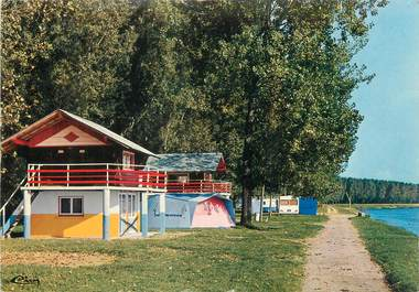"CPSM FRANCE 71 ""Camping plage d'Uchizy"""