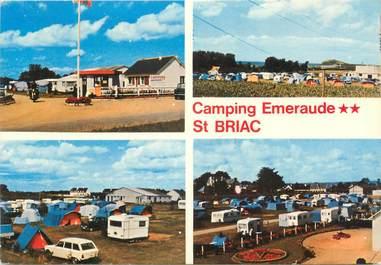 """CPSM FRANCE 35 """"Saint Briac sur Mer, camping Emeraude"""""""