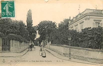 """CPA FRANCE 91 """"Montgeron, rue des Bons Enfants"""""""
