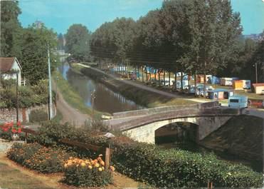 """CPSM FRANCE 58 """"Clamecy, le terrain de camping et le pont"""""""