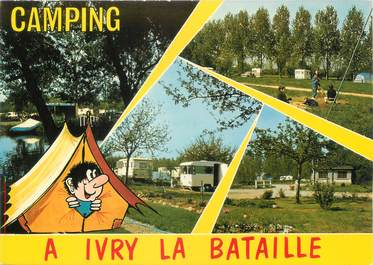 "CPSM FRANCE 27 ""Ivry La Bataille"" / CAMPING"