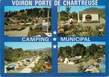 """CPSM FRANCE 38 """"Voiron, camping municipal"""""""