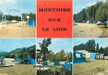 """CPSM FRANCE 41 """"Montoir sur Le Loir"""" / CAMPING"""