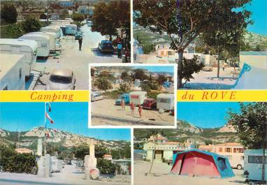 """CPSM FRANCE 13 """"Le Rove en Provence"""" / CAMPING"""