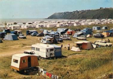 """CPSM FRANCE 50 """"Saint Jean Le Thomas, le camping"""""""