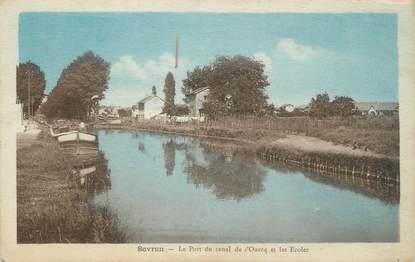 """CPA FRANCE 93 """"Sevran, le port du canal de l'Ourcq et les écoles"""""""