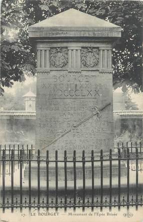"""CPA FRANCE 93 """"Le Bourget, monument de l'Epée Brisée"""""""