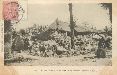 """CPA FRANCE 93 """"Le Bourget, ruines de la maison Prévost"""" / GUERRE DE 1870"""
