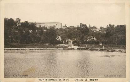 """CPA FRANCE 93 """"Montfermeil, l'étang et l'hôpital"""""""