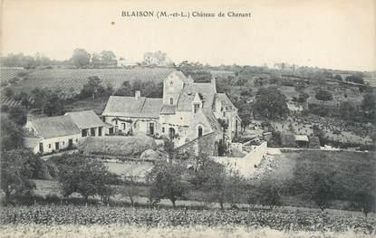 """CPA FRANCE 49 """"Blaison, château de Chenant"""""""