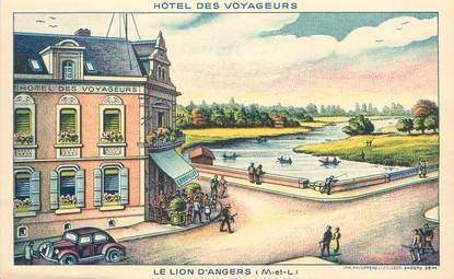 """/ CPA FRANCE 49 """"Le Lion d'Angers, hôtel des voyageurs"""""""