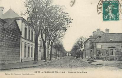 """/ CPA FRANCE 49 """"Doué La Fontaine, avenue de la gare"""""""
