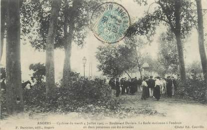 "/ CPA FRANCE 49 ""Angers, cyclone du mardi 4 juillet 1905"""